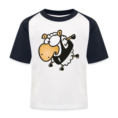 Lauf Schäfchen Sport T-Shirt - Kinder Baseball T-Shirt