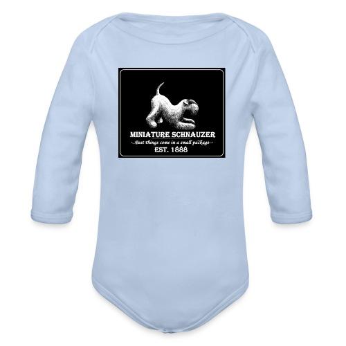 Vauvan body Vintage käppänä nega  - Vauvan pitkähihainen luomu-body