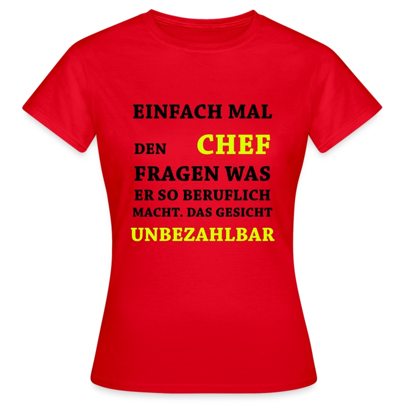lustige spr che unbezahlbar chef t shirt spreadshirt. Black Bedroom Furniture Sets. Home Design Ideas