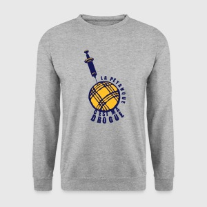 petanque drogue seringue boule piqure Sweat-shirts - Sweat-shirt Homme