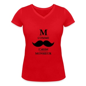 Monsieur comme M #girlfriend - T-shirt bio col V Stanley & Stella Femme