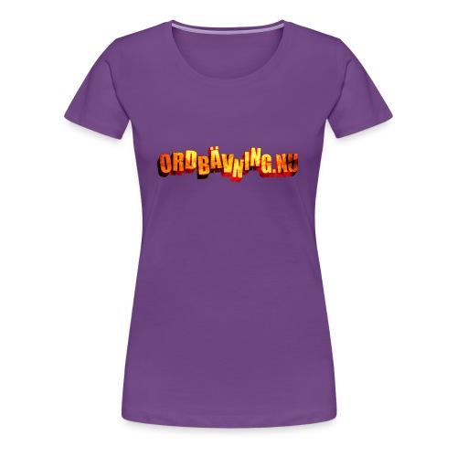 Ordbävning - Premium-T-shirt dam