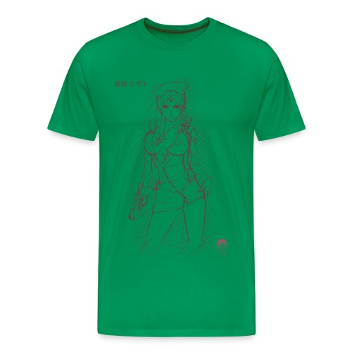 Misato Sketch - Men's Premium T-Shirt
