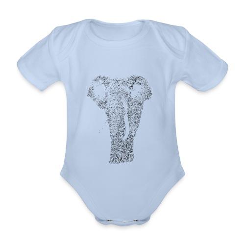 Elephant - Organic Short-sleeved Baby Bodysuit