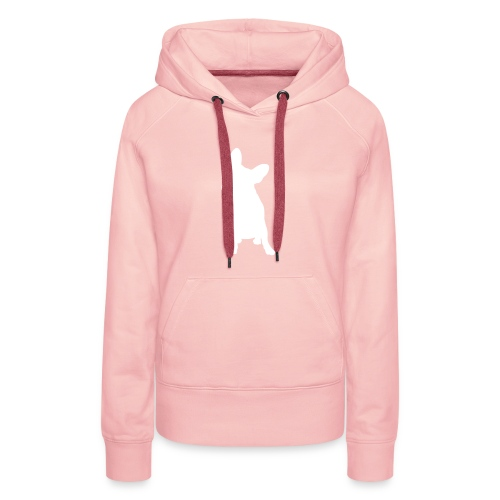 BullyPully Apollo WHITE/ROSA WOMEN - Frauen Premium Hoodie