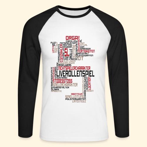 Männer BaseballShirt - LARP Textwolke - Männer Baseballshirt langarm