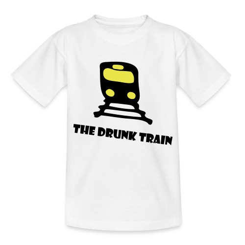 The drunk train - Teenage T-Shirt
