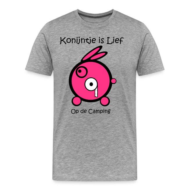 cc84bf89e12 Konijntje is Lief   WC-Rol Grijs-Roze - Mannen Premium T-shirt