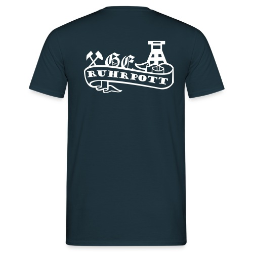 Shirt GE Wappen mit Ruhrpott Banderole - Männer T-Shirt