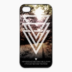 mystic forest triangles Phone & Tablet Cases