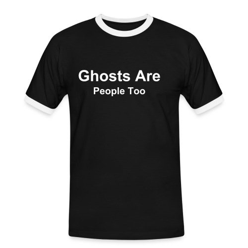 Ghosts are people too - Men's Ringer Shirt