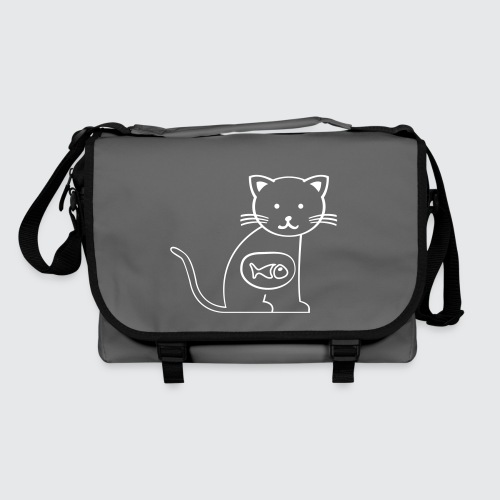 cat vs. fish - Umhängetasche