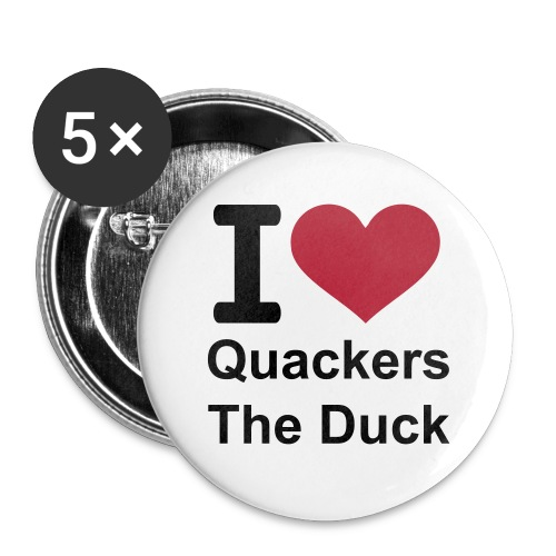 I Love Quackers The Duck Badges - Buttons medium 32 mm