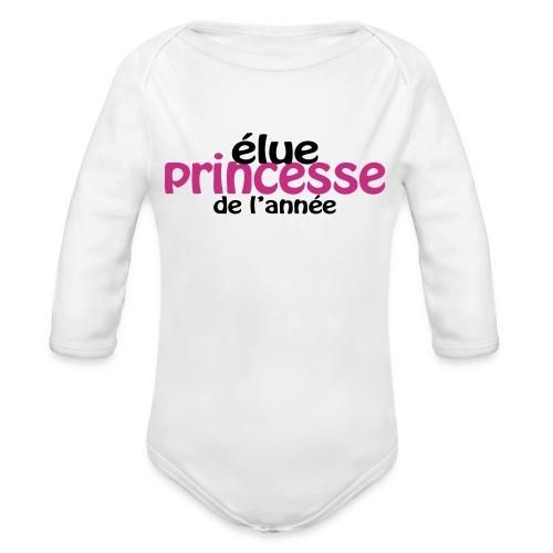 Body Elue princesse de l'année - Body bébé bio manches longues