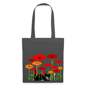 Sac shopping - chaton fleurs - Tote Bag