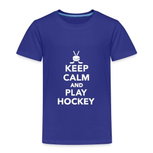 Keep calm and play Hockey T-Shirts - Kinder Premium T-Shirt