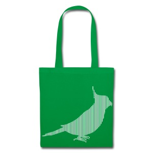 LINE BIRD 037w +TEXT - Tote Bag