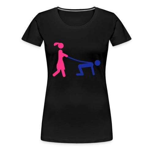 Walk - Dame premium T-shirt