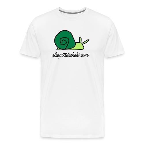 caracol verde black logo - Camiseta premium hombre