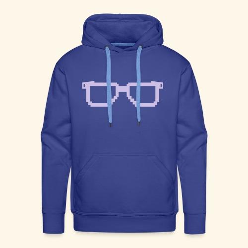 lunettes pixel - Sweat-shirt à capuche Premium pour hommes