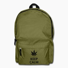 keep calm and smoke cannabis weed pot Bags & backpacks