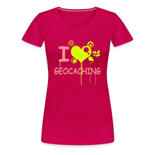 I love geocaching - 2colors - Frauen Premium T-Shirt