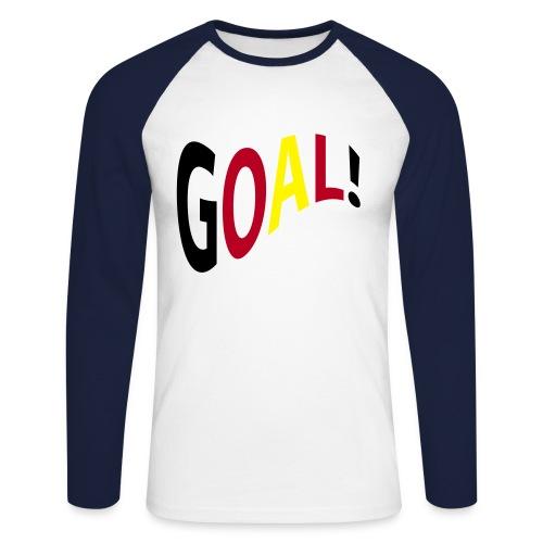 Kickershirt Goal - Männer Baseballshirt langarm