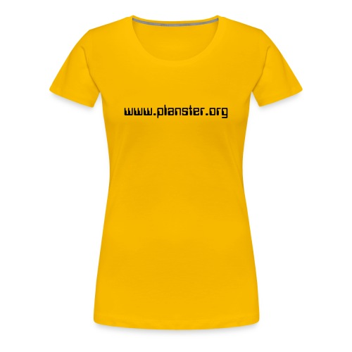 WOMEN / YELLOW, BLACK TEXT - Women's Premium T-Shirt