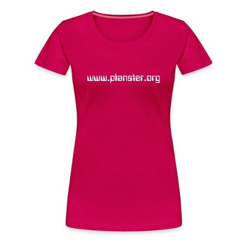 WOMEN / DARK PINK, WHITE TEXT - Women's Premium T-Shirt