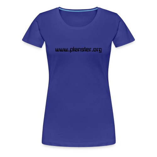 WOMEN / ROYAL BLUE, BLACK TEXT - Women's Premium T-Shirt