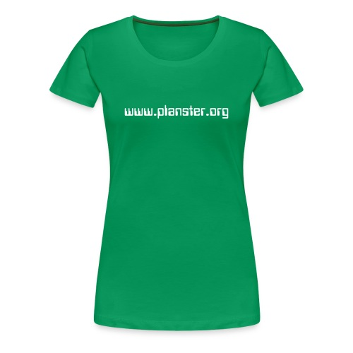 WOMEN / KELLY GREEN, WHITE TEXT - Women's Premium T-Shirt