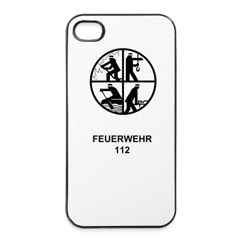 I-Phone Cover 4/4s Feuerwehr - iPhone 4/4s Hard Case