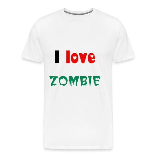 i love zombie basic - Men's Premium T-Shirt