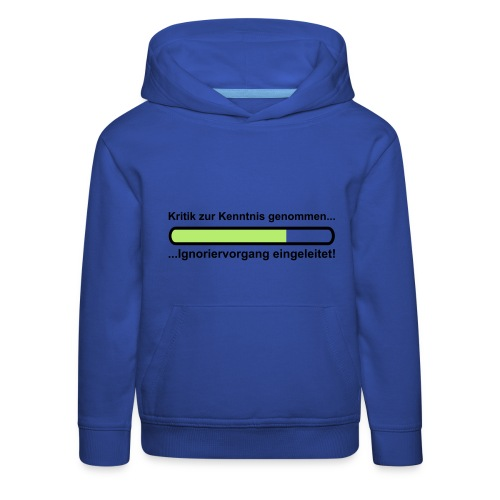 Pullover Kritik - Kinder Premium Hoodie