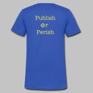 T-shirt homme (man) Publish or perish DOS - Men's V-Neck T-Shirt