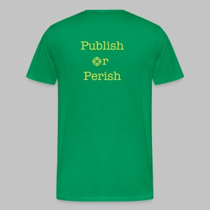 T-shirt homme (man) Publish or perish DOS - Men's Premium T-Shirt