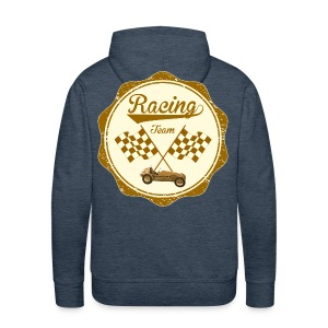 Racing team - retro t-shirt - Men's Premium Hoodie