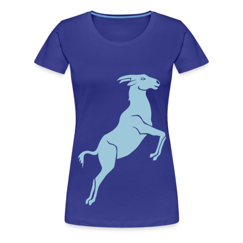 tier t-shirt ziege bock schaf steinbock ziegenbock goat - Frauen Premium T-Shirt