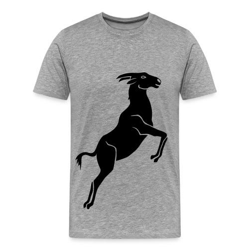tier t-shirt ziege bock schaf steinbock ziegenbock goat - Männer Premium T-Shirt