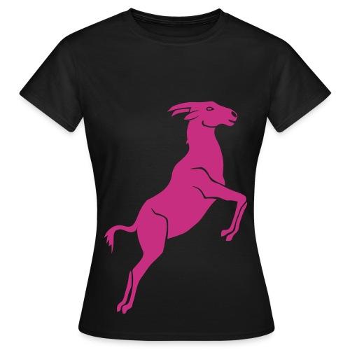 tier t-shirt ziege bock schaf steinbock ziegenbock goat - Frauen T-Shirt