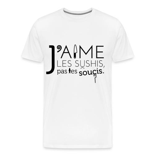 J'aime les sushis - T-shirt Premium Homme