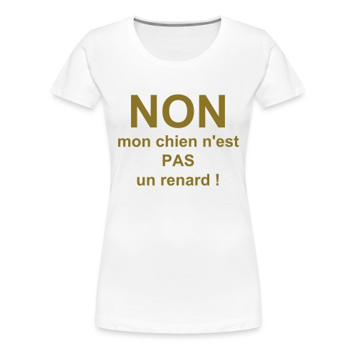 T-shirt doré collector !!! - T-shirt Premium Femme