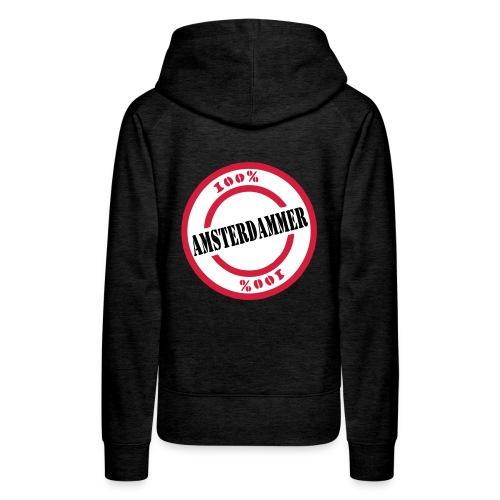 100% Amsterdammer (Special) - Vrouwen Premium hoodie
