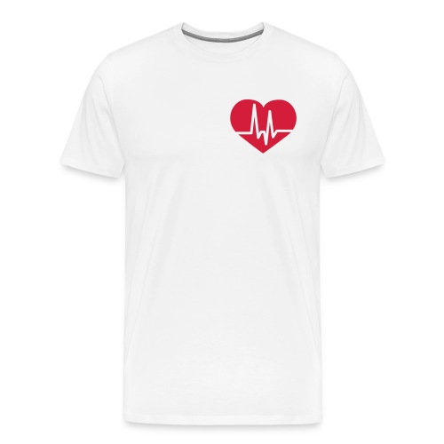 HEART T-SHIRT - Mannen Premium T-shirt
