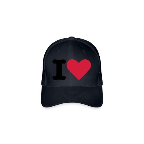 I Love - Flexfit Baseballkappe