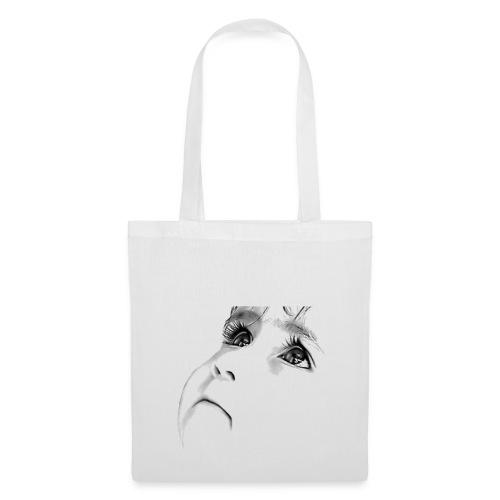 SAC TISSU BLANC REGARD D ENFANT - Tote Bag