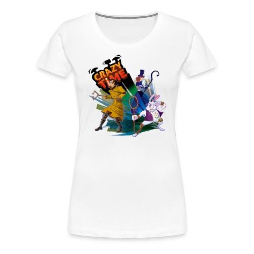 TShirt Crazy Time Blanc Quand F - T-shirt Premium Femme