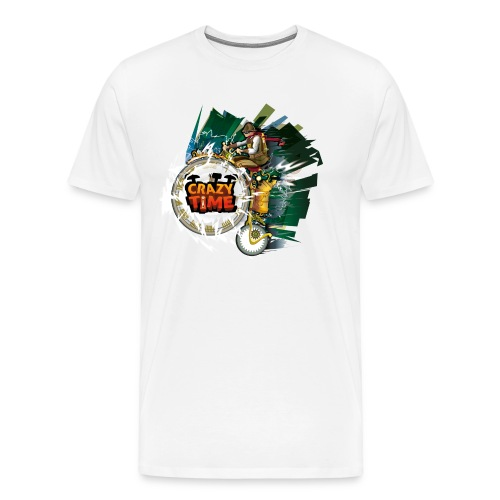 TShirt Crazy Time Blanc TM H - T-shirt Premium Homme