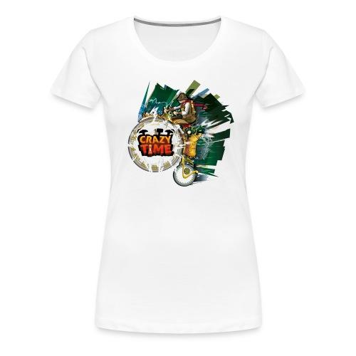 TShirt Crazy Time Blanc TM F - T-shirt Premium Femme