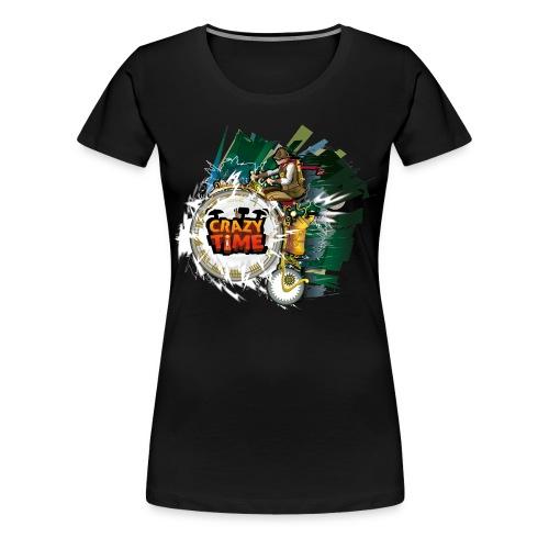 TShirt Crazy Time Noir TM F - T-shirt Premium Femme